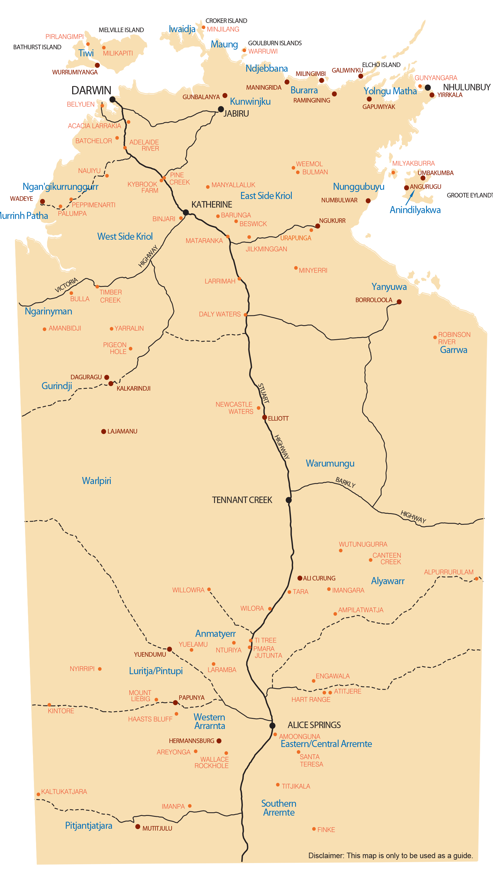 NT map