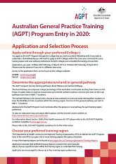 AGPT 2020 Fact Sheet Application and Selection